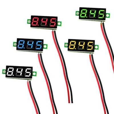 Mini Voltaj Göstergesi Sarı 2.5V - 30V Voltmetre